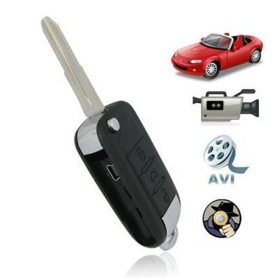 High Definition Sound-acrivated Car Key Camera Support TF Card + Car DVR